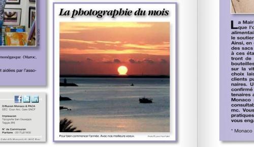 lever de soleil,cros de cagnes,facebook,presse,mensuel la principauté,photographie