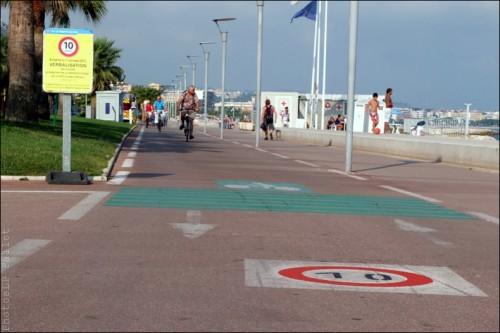 cagnes sur mer,cycliste,vélo,slow bike,mer,plage,limitation de vitesse