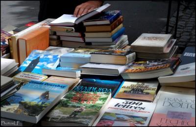 Livres sur un marché-PhotosLP Fallot.JPG