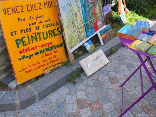 carnet de voyage été 2012,assérac,annie darzacq,marché,peinture