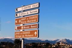 la carte de france des paysages,cagnes sur mer,promenade de l'hippodrome,hiver,photo;