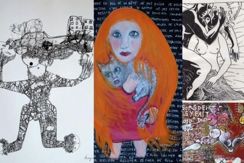 exposition,st malo de guersac,association lflp 2015,mano solo,emilie collet,fred mazère et delphine cadoré,dessins