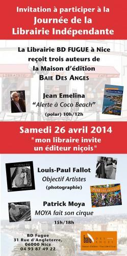 san jordi,livre,fête du livre,éditions baie des anges,librairies,objectif artistes